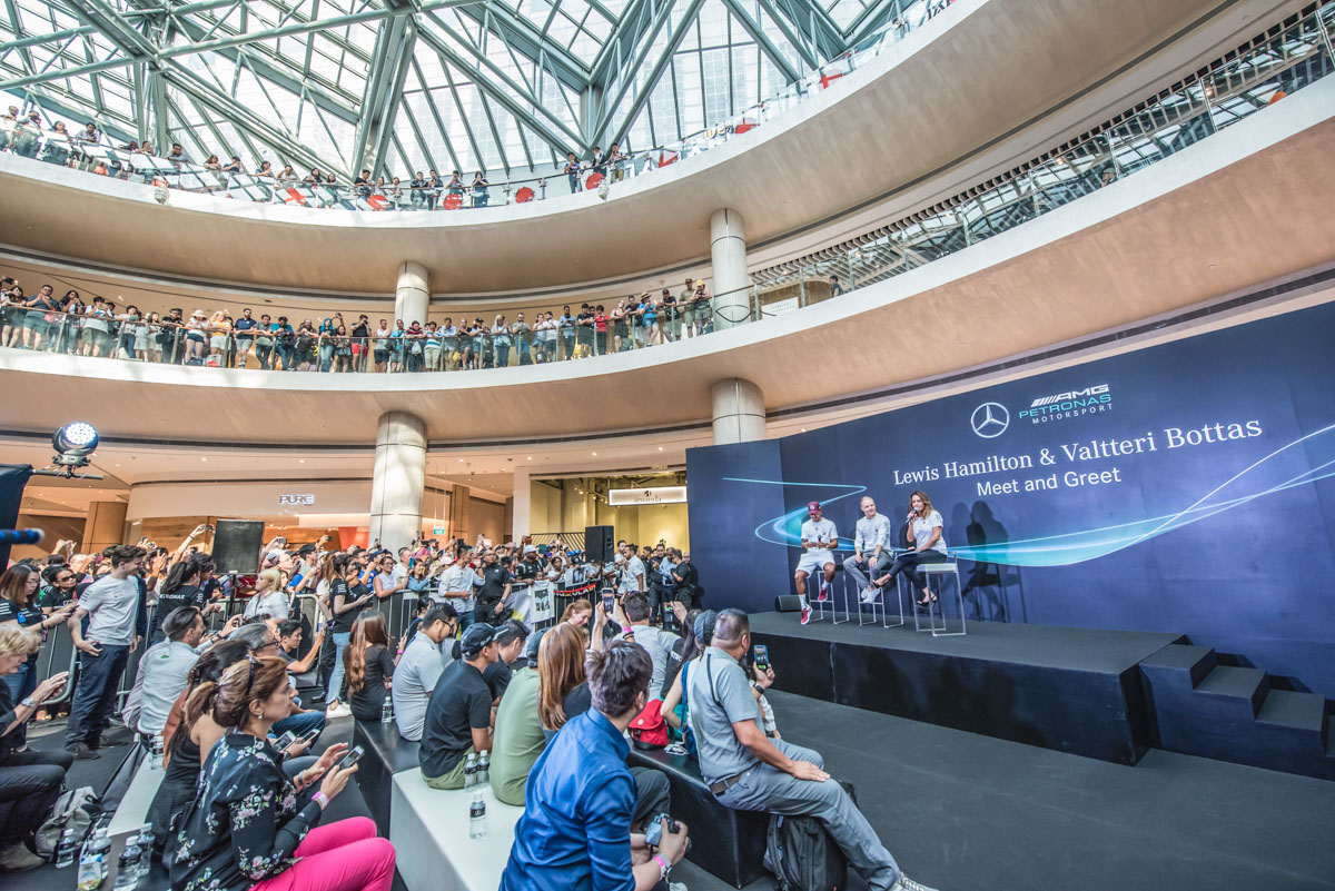 Mercedes-AMG Petronas Motorsport F1 drivers Meet & Greet