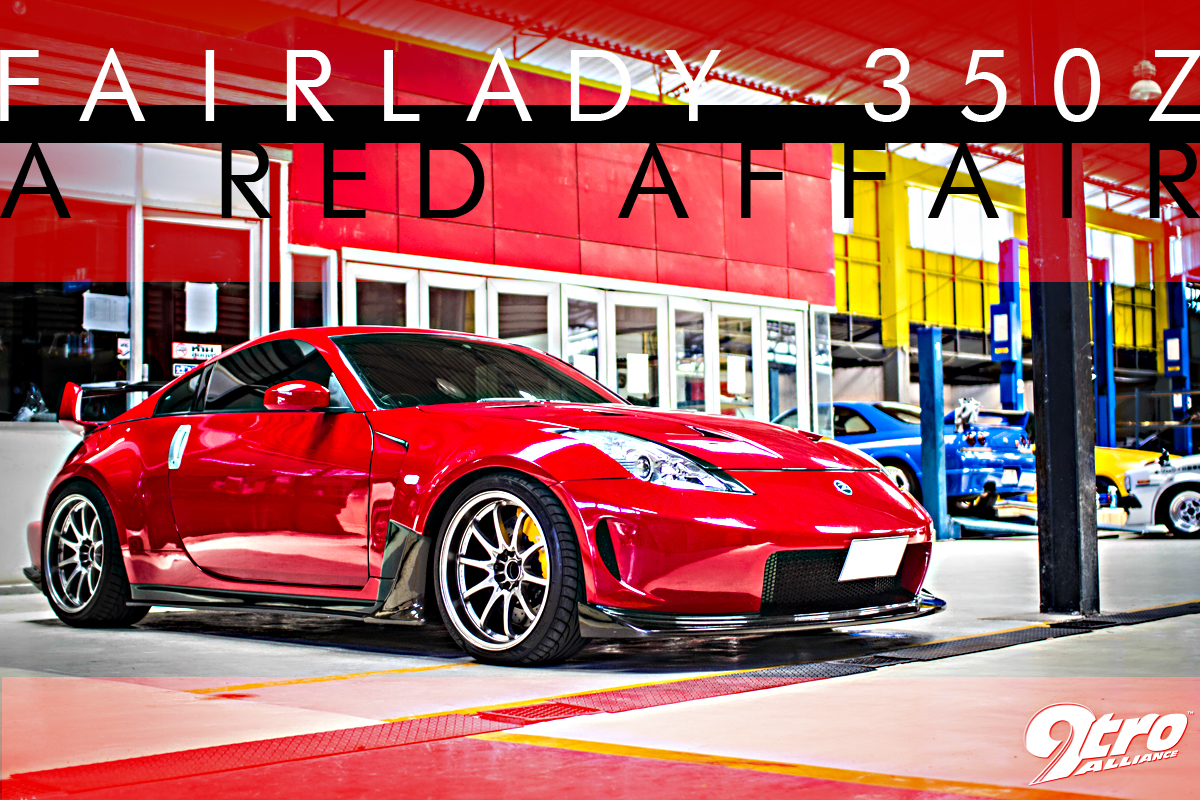 Nissan Fairlady 350Z   A Red Affair