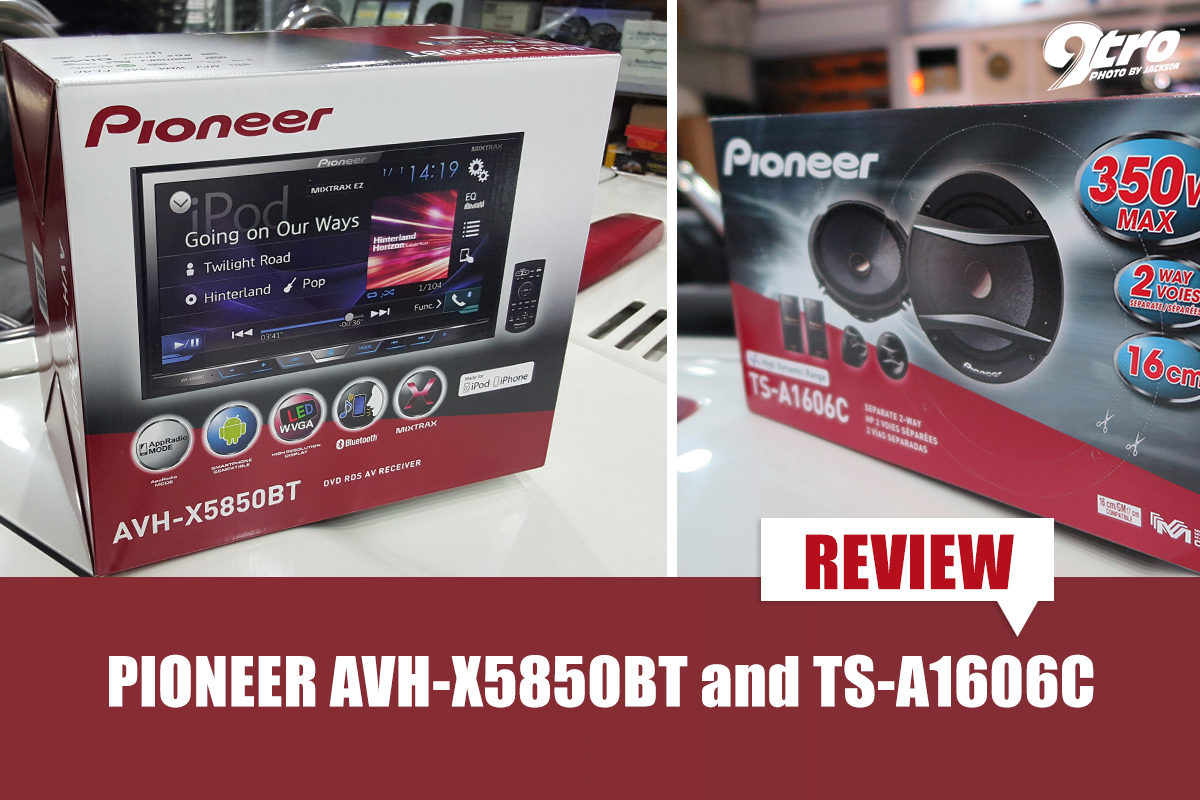 REVIEW: Pioneer AVH-X5850BT and TS-A1606C