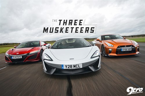 McLaren 540C/Honda NSX/Nissan GT-R – The Three Musketeers